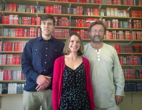left to right: Samuel Howard (Publishing Executive), Genevieve Helsby (Publishing Manager), Anthony Anderson (Managing Director)
