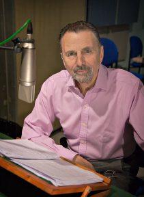 Neville Jason, in the studio for Naxos AudioBooks