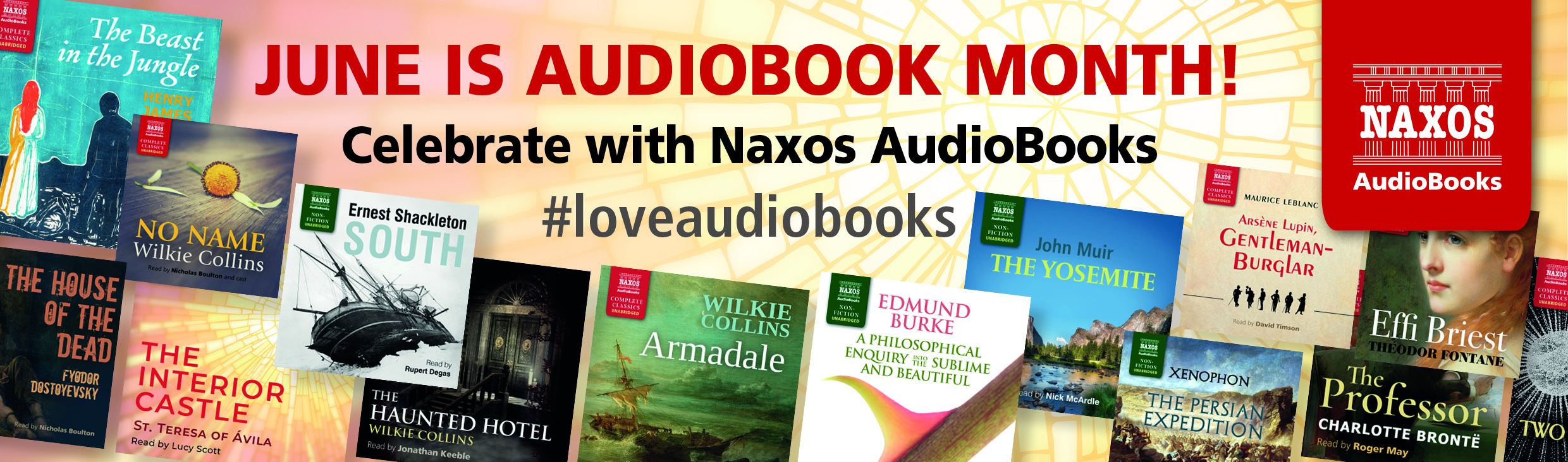 Audiobook month banner
